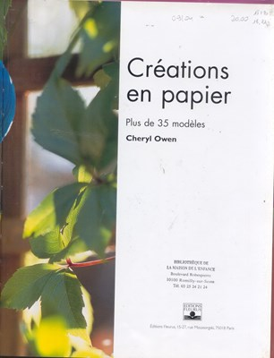 Creations den papier:Plus de 35 modeles / Поделки из бумаги: плюс 35 трафаретов(модулей) скачать