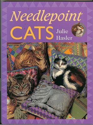 Книга по вышивке крестиком Julie Hasler «Needlepoint cats» скачать