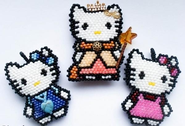 Hello Kitty - фигурки из бисера