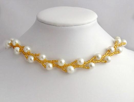 Красивое ожерелье «Двойные перлы»
