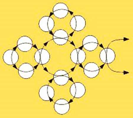Техника плетения из бисера групп крестиков