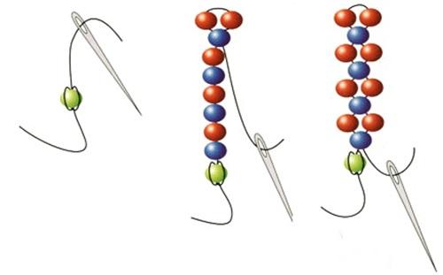 схема плетения бисером