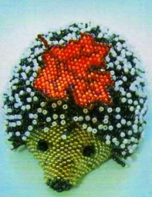 Ёжик плетеный бисером