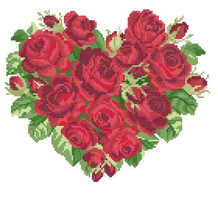 Красные розы. сердце