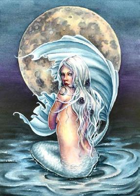 Moon Mermaid схема вышивки
