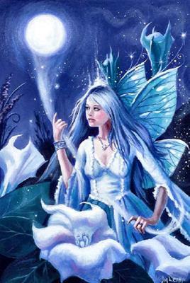 Moonbeam Fairy схема вышивки