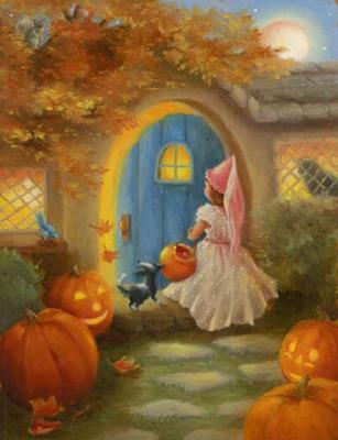 Halloween Princess схема вышивки