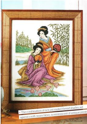 Скачать схемы вышивки гейши