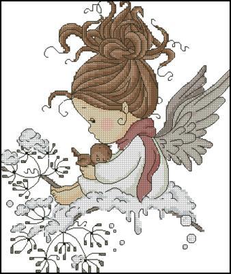Christmas angel вышивка крестом схема