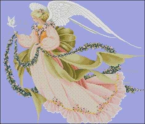 Ангел лета (Angel of Summer) схема вышивки крестом