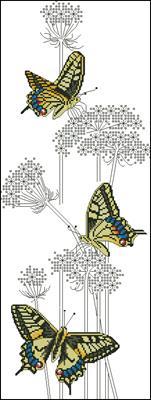 Swallowtail Butterflies вышивка крестиком