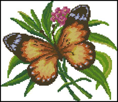 Butterfly вышивка крестом