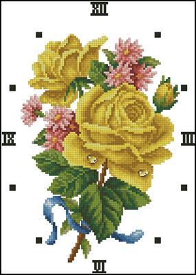 Beauty Rose - Yellow вышивка крестом схема бесплатно