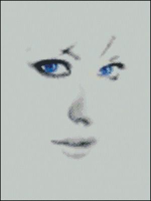 Голубоглазая девушка вышивка схема