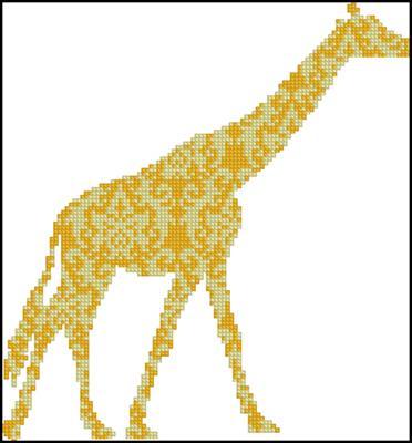 Жираф крестиком вышивка