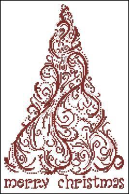 Merry Christmas схема вышивки крестиком