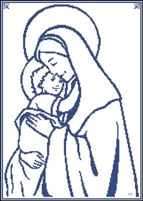 Virgen María схема вышивки
