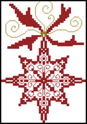 Снежинка вышивка крестиком
