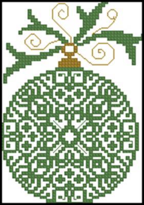 Новогодняя игрушка схема вышивки крестиком