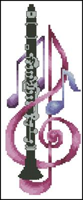 Clarinet схема вышивки крестиком
