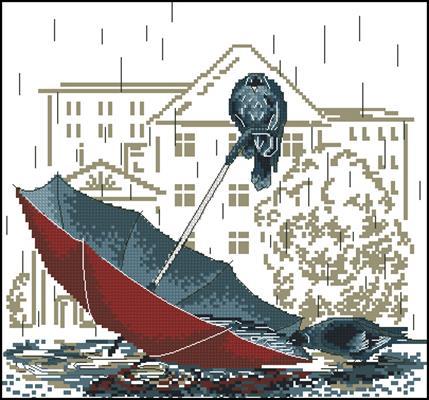 Грустный зонтик схема скачать