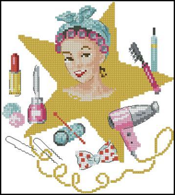 Звезда схема вышивка