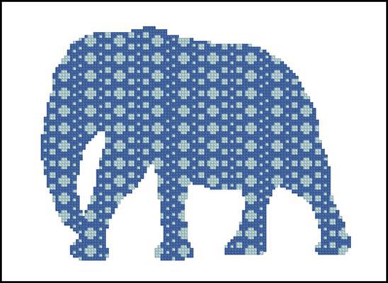Слон схема вышивки крестом бесплатно