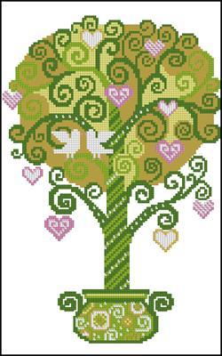 Дерево счастья вышивка схема