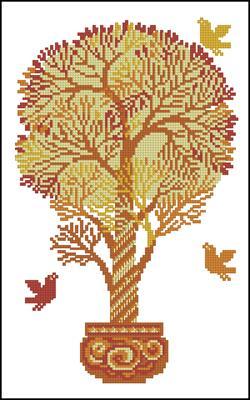 Вышивка крестом дерево денежное бесплатно