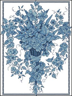 Blue Sconce вышивка схема