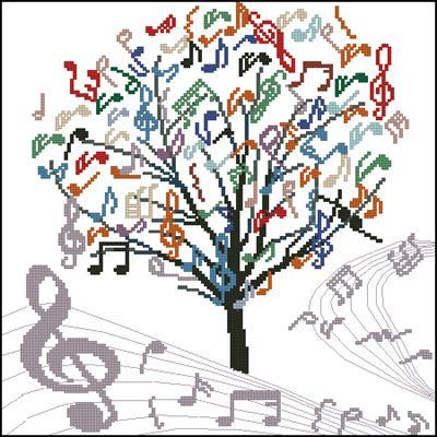 Дерево из нот