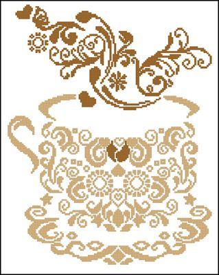 Hot Chocolate вышивка схема