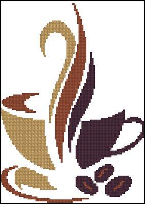 Кофе 6 схема вышивки крестом бесплатно