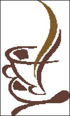 Кофе схема вышивки крестом скачать