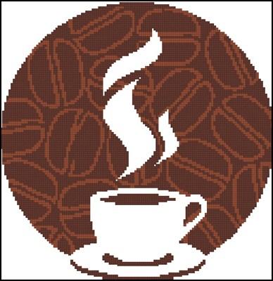 Кофе 5 схема вышивки крестом скачать схему