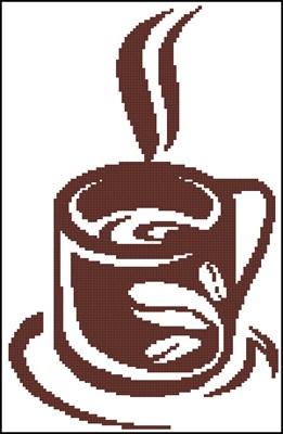 Кофе схема вышивки крестиком скачать