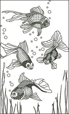 Рыбки вышивка крестом схема