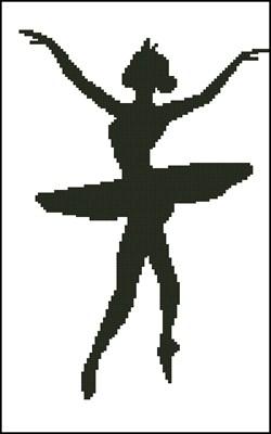 Балерина 1 вышивка крестом схема скачать