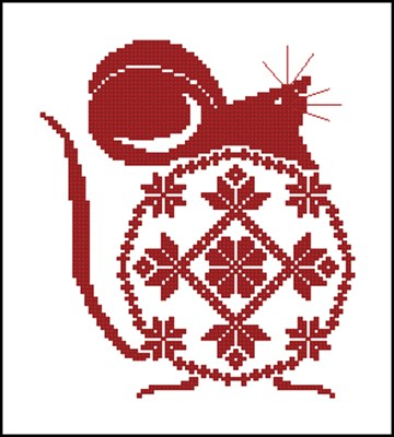 Мышка вышивка крестиком скачать бесплатно