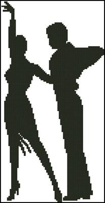 В ритме танца схема вышивки крестом