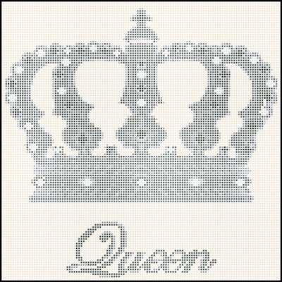 Корона королевы схема вышивки крестом