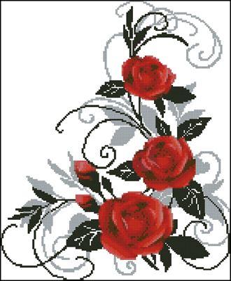 розы вышивка крестом