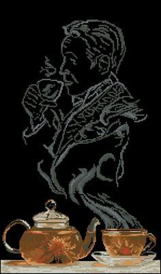 Чайная фантазия - Он схема вышивки крестиком скачать бесплатно