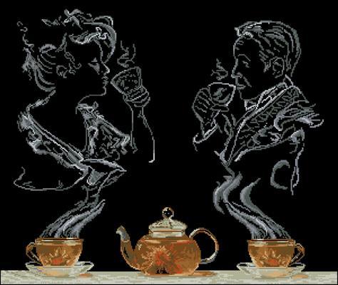 Чайная фантазия схема вышивки крестиком скачать бесплатно