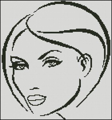 Лицо девушки схема для вышивки
