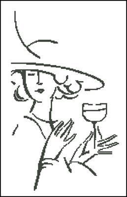 Дама с фужером схема вышивки скачать бесплатно