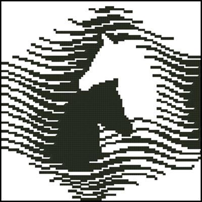 Лошади схема вышивки крестом