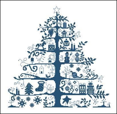 Новогодняя елка схема вышивки керстиком