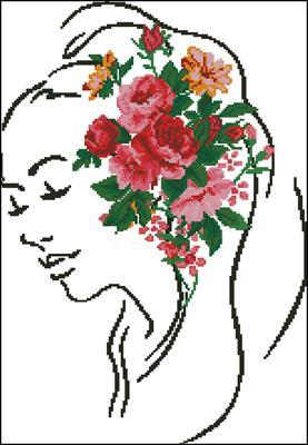 Розы в волосах схема вышивки скачать бесплатно