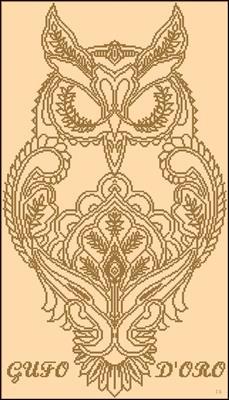 GUFO D'ORO схема крестиком